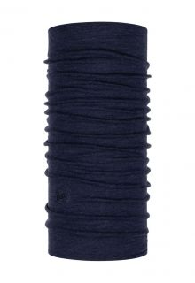 Buff---Midweight-Merino-Tube-scarf-Melange-for-adults---Nightblue