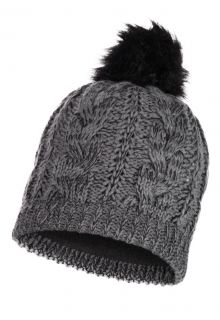 Buff---Knitted-Polar-Hat-Darla-with-pompom-for-adults---Grey-Pewter
