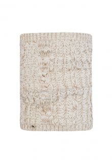 Buff---Knitted-Tube-scarf-Darla-for-adults---Beige