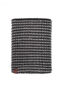 Buff---Knitted-Polar-Tube-scarf-Dana-for-adults---Grey/Multi
