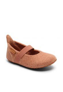 Bisgaard---Home-shoe-for-babies---Ballet-wool---Rose