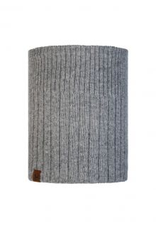 Buff---Knitted-Polar-Tube-scarf-Kort-for-adults---Grey