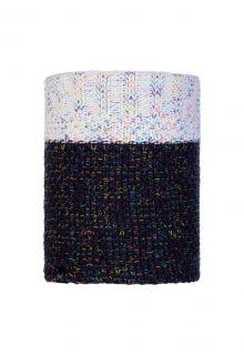 Buff---Knitted-Polar-Tube-scarf-Janna-for-adults---Nightblue/Multi