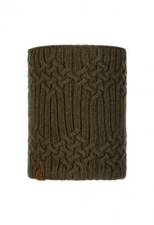 Buff---Knitted-Polar-Tube-scarf-New-Helle-for-adults---Tundra-Khaki