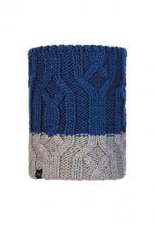 Buff---Knitted-Polar-Tube-scarf-Ganbat-for-children---Blue/Grey