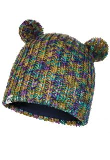 Buff---Knitted-Hat-Lera-with-pompoms-for-children---Multi
