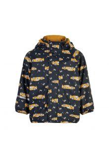 CeLaVi---Rain-jacket-with-fleece-for-kids---Race-car---Navy