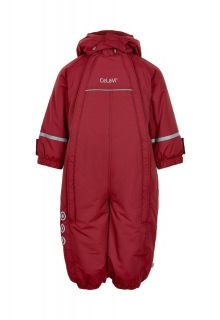 CeLaVi---Snowsuit-with-double-zipper-for-babies---Solid---Dark-red