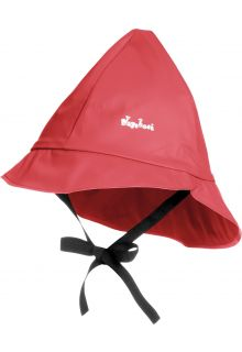 Playshoes---Rain-cap-with-cord---Red