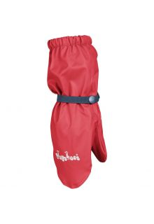 Playshoes---Rain-gloves-with-fleece-lining-for-kids---Red