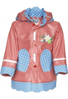 Playshoes---Rainjacket-with-check-&-Dots---Red/Blue