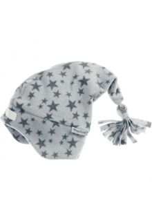 Playshoes---Fleece-pointed-cap-for-kids---Stars---Grey