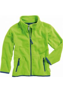 Playshoes---Fleece-jack-with-long-sleeves---Green/Navy