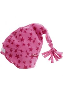 Playshoes---Fleece-pointed-cap-for-kids---Stars---Pink