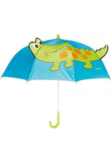 Playshoes---Children's-umbrella-with-Crocodile---Blue