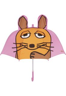 Playshoes---Umbrella-for-kids---Mouse-with-3D-ears---Light-pink