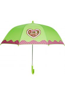 Playshoes---Children's-umbrella-with-Heart-&-Dots---Green