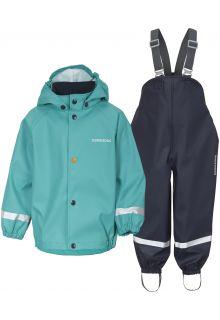 Didriksons---Rain-suit-set-5-for-babies---Slaskeman---2-Color---Peacock-Green