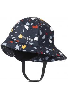 Didriksons---Rain-hat-for-children---Southwest-Printed---Darkblue