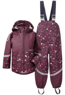 Didriksons---Rain-suit-for-children---Waterman-Printed---Plum