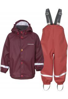 Didriksons---Rain-suit-set-5-for-babies---Slaskeman---2-Color---Rioja-Red