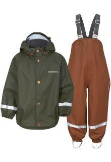 Didriksons---Rain-suit-set-5-for-babies---Slaskeman---2-Color---Deep-Green