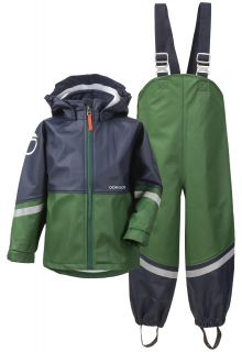 Didriksons---Rain-suit-for-children---Waterman---Green/Darkblue