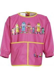Playshoes---Apron-with-long-sleeves---Rosa