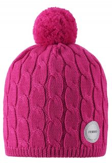 Reima---Beanie-for-girls---Nyksund---Raspberry-pink