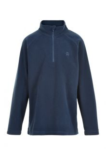 Color-Kids---Fleece-pullover-with-half-zip-for-children---Solid---Dark-blue