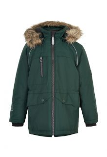 Color-Kids---Parka-jacket-for-children---Fake-fur---Gables-Green