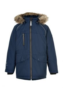 Color-Kids---Parka-jacket-for-children---Fake-fur---Dark-blue