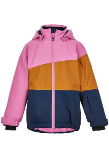 Color-Kids---Ski-jacket-for-girls---Colorblock---Pink/Honey/Dark-blue