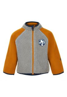 Color-Kids---Fleece-jacket-for-babies---Colorblock---Grey/Honey