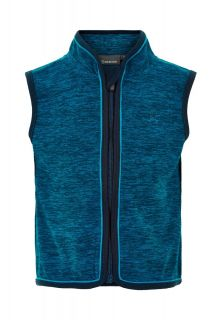 Color-Kids---Fleece-waistcoat-for-babies---Melange---Dark-Blue