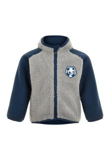 Color-Kids---Fleece-jacket-for-babies---Colorblock---Grey/Dark-blue
