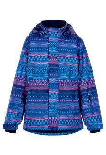 Color-Kids---Ski-jacket-for-girls---AOP---Galaxy-Blue/Multi