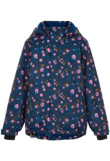 Color-Kids---Ski-jacket-for-girls---AOP---Dark-blue/Multi