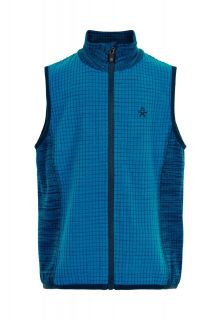 Color-Kids---Fleece-waistcoat-for-boys---Melange---Surf-Blue