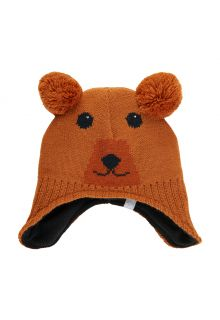 Color-Kids---Beanie-with-motive-for-babies---Bear---Leather-Brown