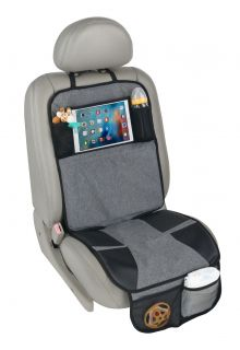 Altabebe---Car-Seat-Protection-mat-with-iPad/Tablet-pocket---Grey