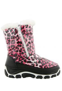 Antarctica---Snowboots-with-zipper-for-children---AN-285B---Pink/Animal-Print