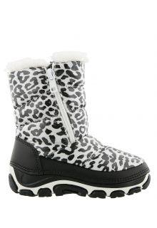 Antarctica---Snowboots-with-zipper-for-children---AN-285B---White/Animal-Print
