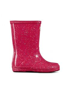 Hunter---Rainboots-for-girls---Original-Kids-First-Classic-Glitter---Thrift-Pink