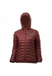 Lowland-Outdoor---Duck-down-filled-winter-jacket-for-woman---Hoody---Plum
