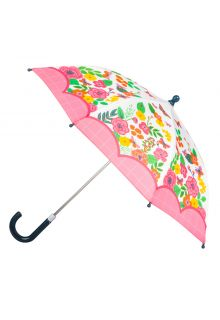 Stephen-Joseph---Umbrella-for-girls---Butterfly---Off-white/Pink