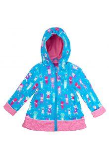 Stephen-Joseph---Raincoat-for-girls---Cats-&-Dogs---Light-blue