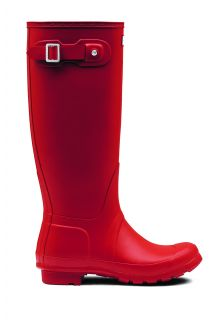 Hunter---Rainboots-for-women---Original-Tall---Military-Red