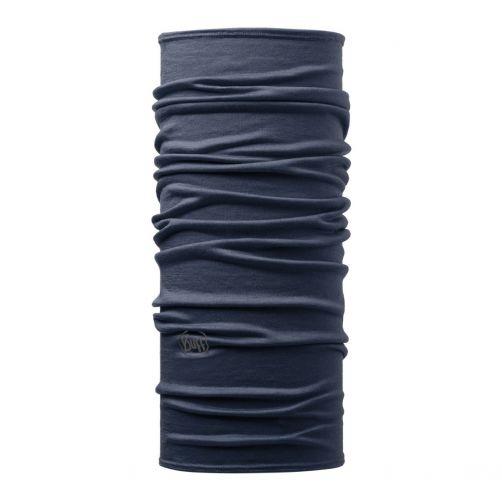 Buff---Lightweight-Merino-Tube-scarf-Solid-for-adults---Denim-Blue