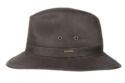 Hatland---Fabric-hat-for-men---Orville---Brown